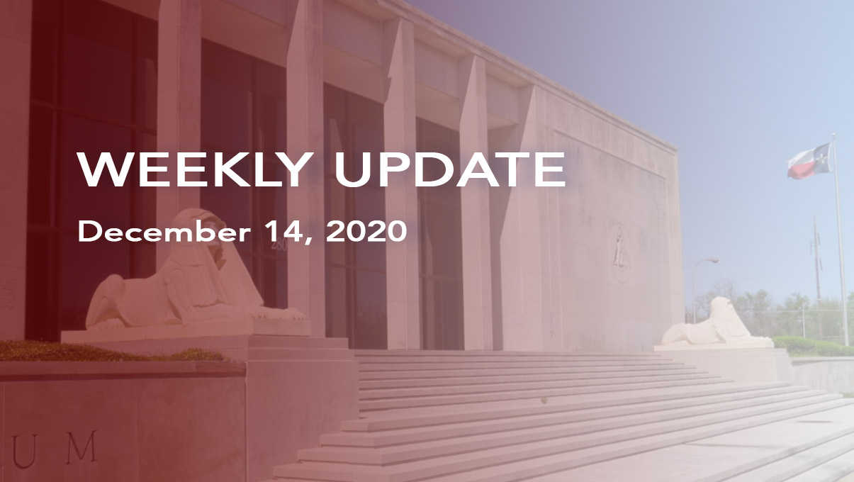 Weekly Update for Dec 14