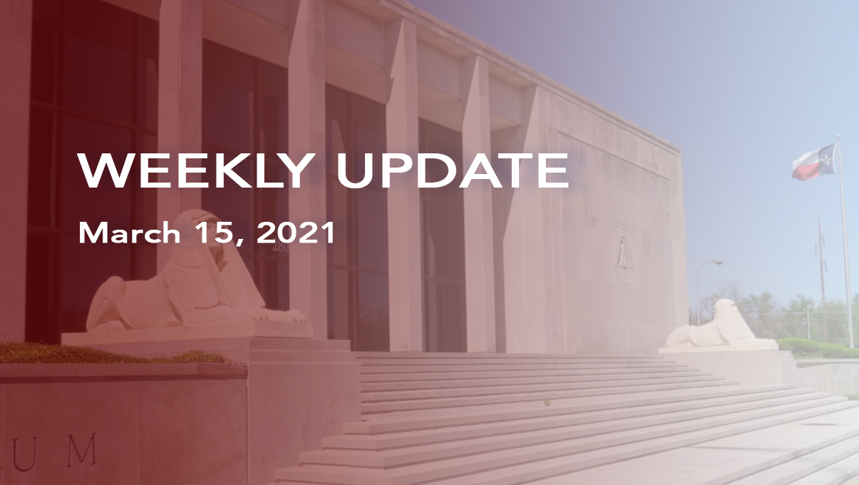 Weekly Update for Mar 15